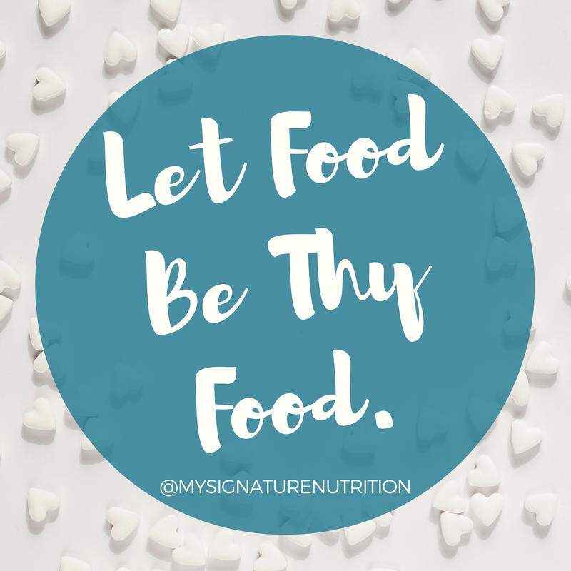 let food be food